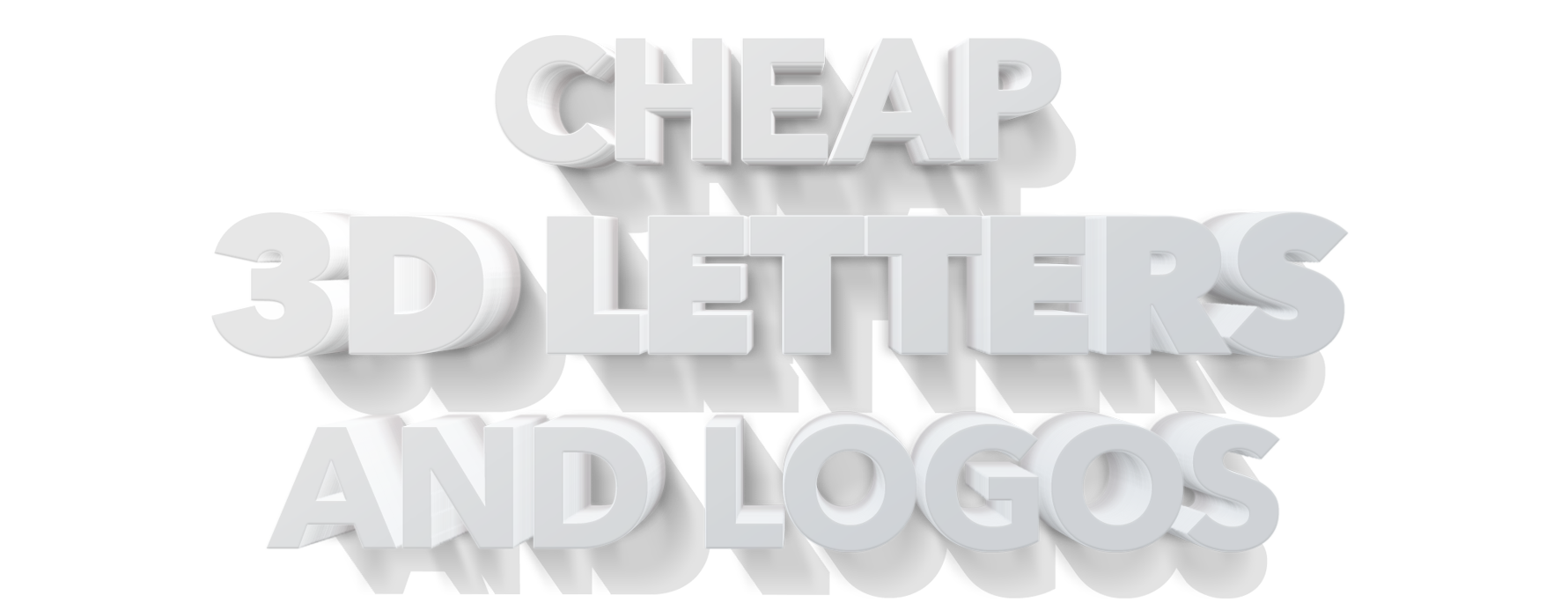 Cheap 3D Letters and Logos
